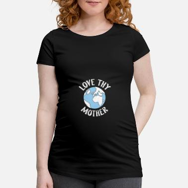 Lagre Happiest Earth Day Save Mother Nature Global Chang - Gravid T-skjorte