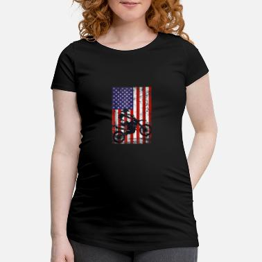 Ride Dirt Bike American Flag Shirt 4. juli - Vente T-shirt