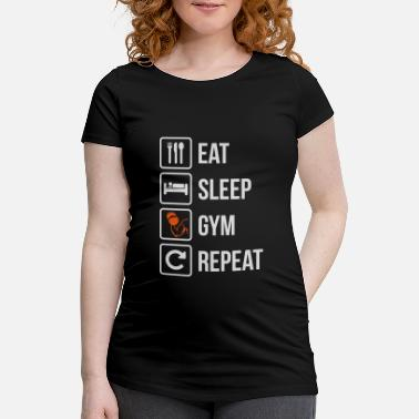 Eat Sleep Scratch Repeat Eat Sleep Gym Repeat - Women's Pregnancy T-Shirt