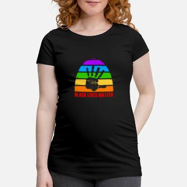Freedom Black Lives Matter - rainbow - anti racism - Maternity T-Shirt