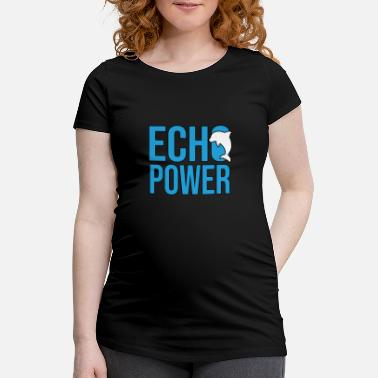 Was Echo Power Delphin Wasser Fisch - T-shirt de grossesse