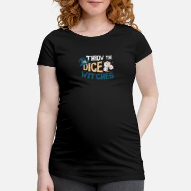 Dice Roll the dice witch Halloween motif - Maternity T-Shirt
