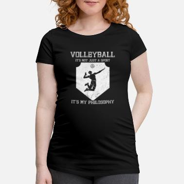 Philosophy Volleyball cram life philosophy - Maternity T-Shirt