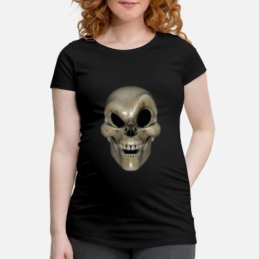 Drawing Smart Skull - Maternity T-Shirt