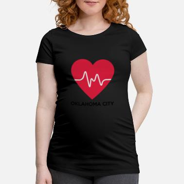 Oklahoma City Heart Oklahoma City - Women's Pregnancy T-Shirt