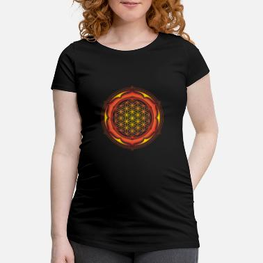 Geometry Flower of Life, Spiritual Healing Symbol - Maternity T-Shirt