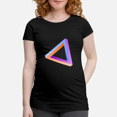 Impossible Illusion Impossible triangle optical illusion - Women's Pregnancy T-Shirt