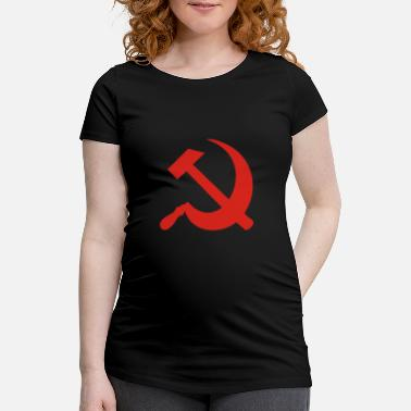 Sickle Hammer and Sickle - Maternity T-Shirt