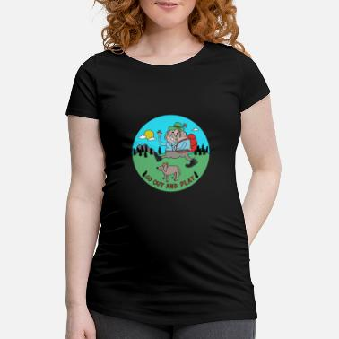 Wiesel Comic Go Out and Play by Cheslo - Frauen Schwangerschafts-T-Shirt