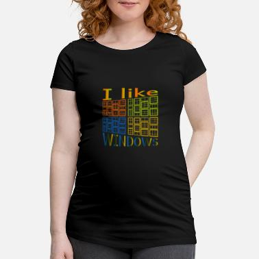 Windows Jeg kan lide Windows - Vente-T-shirt