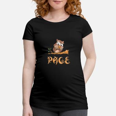 Page Owl page - Women's Pregnancy T-Shirt