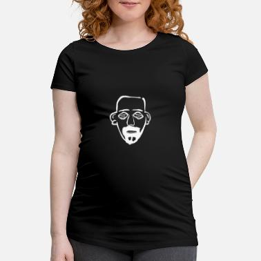 Bald Man Man with white beard and bald gift - Women's Pregnancy T-Shirt