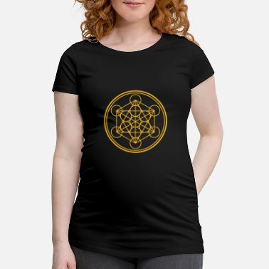 Talisman merkaba - flower of life - T-shirt de grossesse