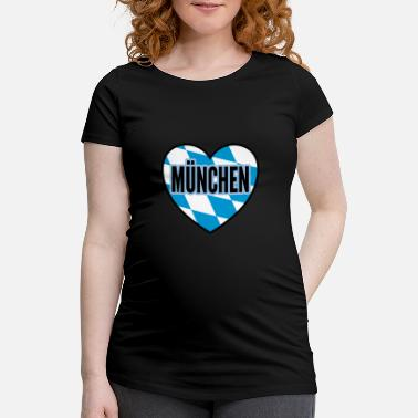 Munich city gift - Maternity T-Shirt
