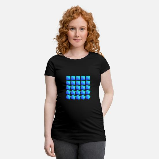 Number T-Shirts - crooked rectangles, square, rectangle, hipster - Maternity T-Shirt black