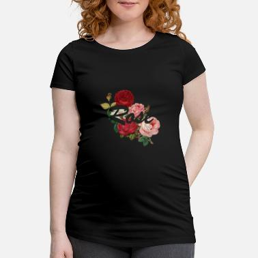 Rose Rose roses - Maternity T-Shirt