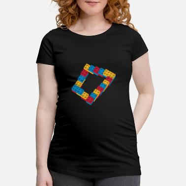 Retro optical illusion - endless steps - Maternity T-Shirt