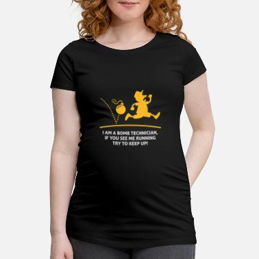 Bomb When A Bomb Squads Running, Follow Him! - Maternity T-Shirt