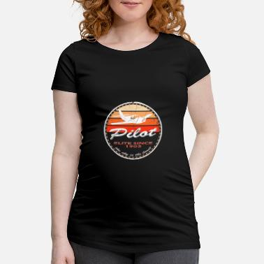 Since Pilot Vintage Circle - Schwangerschafts-T-Shirt