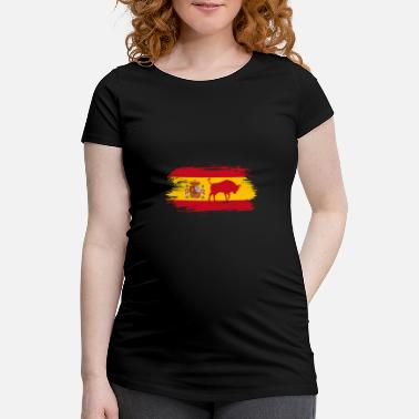 Bull Spain flags design with bull / gift Madrid - Maternity T-Shirt