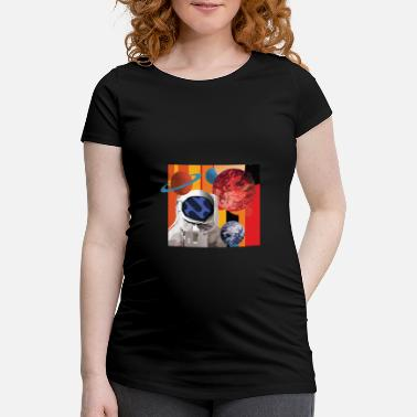 Astronaut with Planets - Maternity T-Shirt
