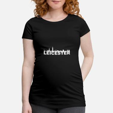 Clock Leicester Angleterre Capital Skyline Royaume-Uni - T-shirt de grossesse