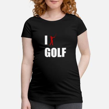 Réduction J'aime le golf Golfeur golfeur Golf Caddy Abschl - T-shirt de grossesse