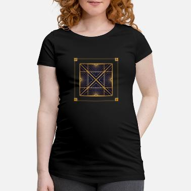Quadrat Abstract vintage pattern with square and lines - Maternity T-Shirt