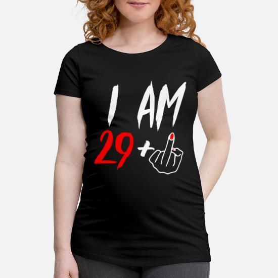 30 Jaar 30e Verjaardag Vrouw Cadeau Vrouwen Zwangerschap T Shirt Zwart