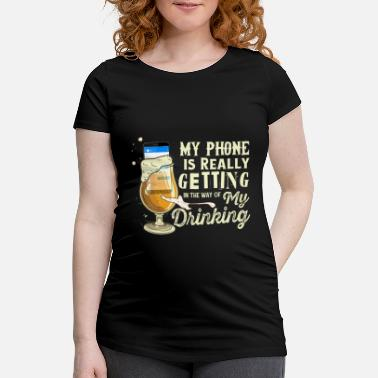 Humour Mobile addiction addicted smartphone humor nomophobia - Maternity T-Shirt