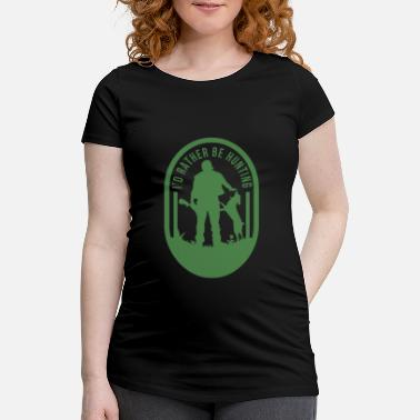 Hunting Dog Hunting Hunter hunting shirt saying Duck Hunting Wild - Maternity T-Shirt
