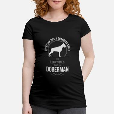 Lyckans Ost DOBERMAN KUP Guardian Angel Wilsigns - Gravid-T-shirt dam
