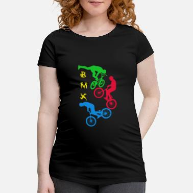 Bikes Bmx BMX, BMX, cycling, bike, bike, bike stunt - Women's Pregnancy T-Shirt
