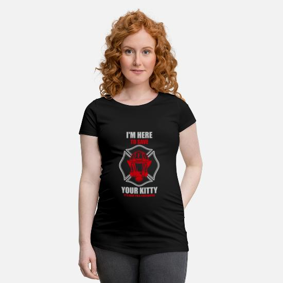 Fire Fighter T-Shirts - I save your cat fire department - Maternity T-Shirt black