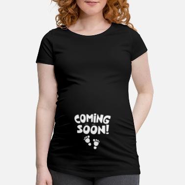 6061fb79833a Coming Soon Baby Feet Regalo di gravidanza - Maglietta premaman