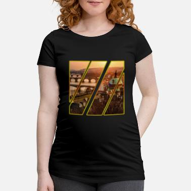 Cz Prague Czech Republic CZ city - Maternity T-Shirt