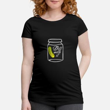 Can-can Canned tin can. Cans. Canning jars - Maternity T-Shirt