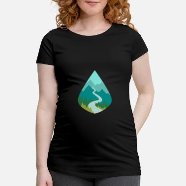 Natürlich Forest nature gift planet - Maternity T-Shirt