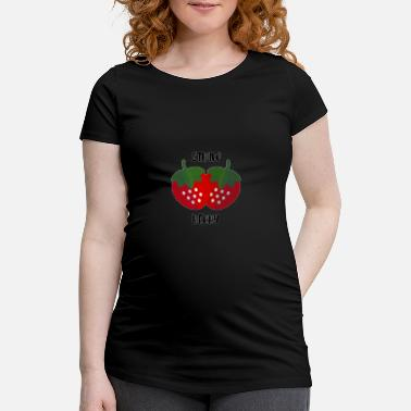 Strawberry strawberries - Maternity T-Shirt