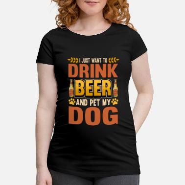 Dachshund Dog beer lover funny saying gift - Maternity T-Shirt
