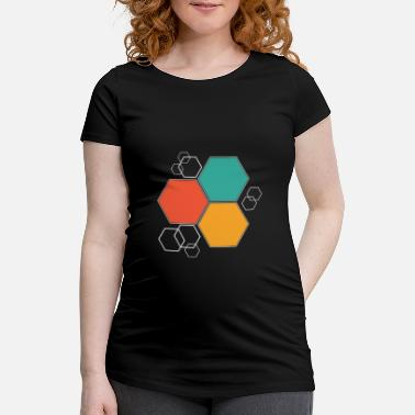Hexagone Hexagone cadeau hexagone - T-shirt de grossesse