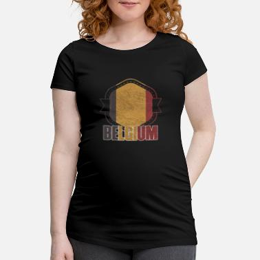 National Belgium national colors nation - Maternity T-Shirt