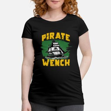 Drapeau Pirate Bateau pirate drapeau pirate - T-shirt de grossesse