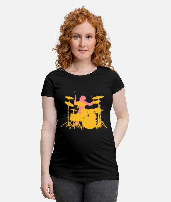 Pearl T-Shirts - Drums - Maternity T-Shirt black