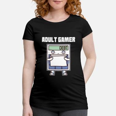 Adult Humour Adult Gamer Adult Calculator - Maternity T-Shirt