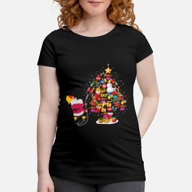 Santa Claus / Nicholas plays firefighter - Maternity T-Shirt