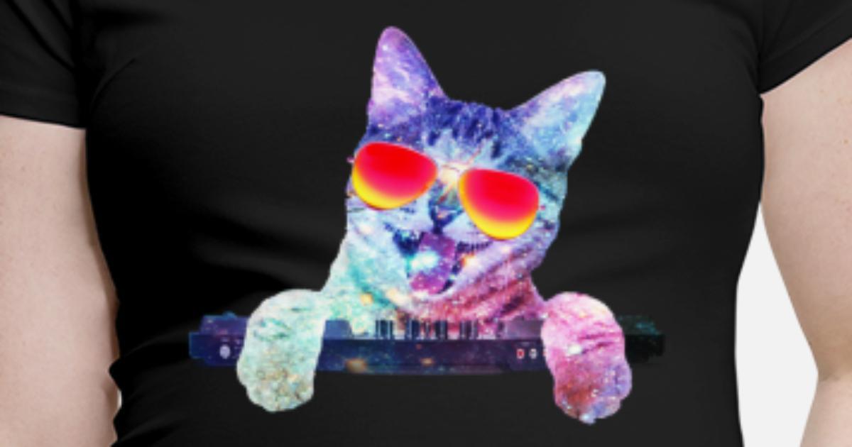 Coole Dj Katze Schwangerschafts T Shirt Spreadshirt