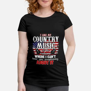 Westernridning Country Western Music Love USA Gift - Gravid T-shirt