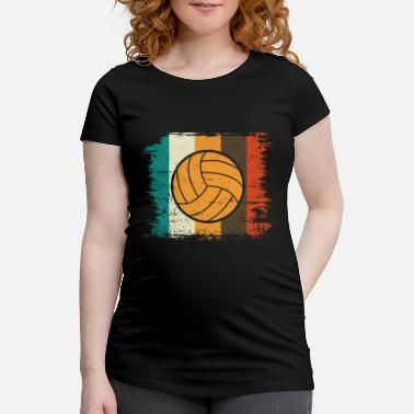 Net Volleyball Retro Volleyballer Gift Beach Ball - Maternity T-Shirt