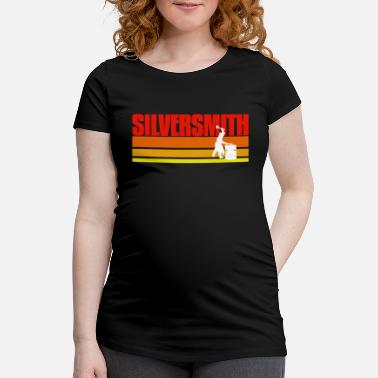 Job Retro Silversmith Present Idea - Schwangerschafts-T-Shirt